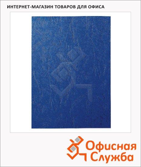 фото: Обложки для переплета картонные Gbc LeatherGrain синие А4, 250 г/кв.м, 100шт