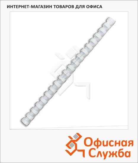 фото: Пружины для переплета пластиковые Gbc белые на 90-110 листов, 14мм, 100шт, кольцо