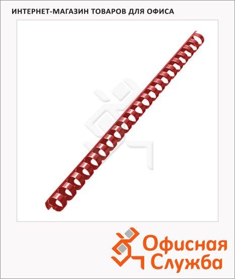 фото: Пружины для переплета пластиковые Gbc красные на 90-110 листов, 14мм, 100шт, кольцо