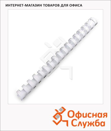 Пружины для переплета пластиковые Gbc белые, на 140-170 листов, 19мм, 100шт, кольцо