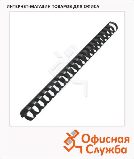 фото: Пружины для переплета пластиковые Gbc черные на 140-170 листов, 19мм, 100шт, кольцо