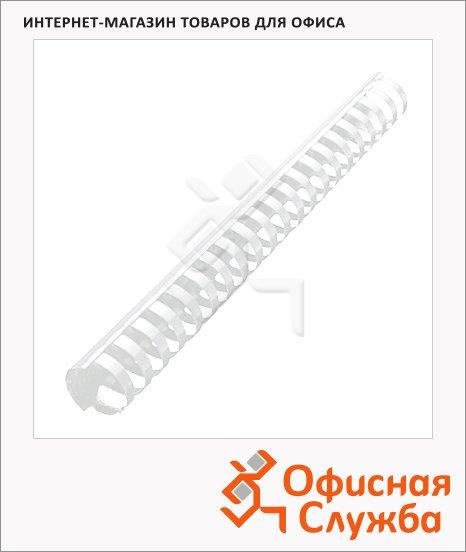 Пружины для переплета пластиковые Gbc белые, на 240-270 листов, 28мм, 50шт, кольцо