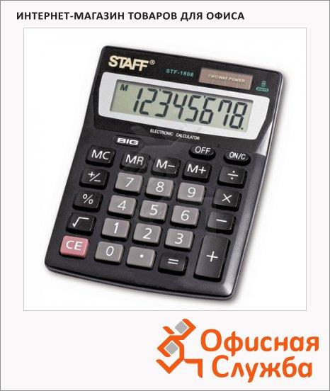 Калькулятор настольный Staff STF-1808 черный, 8 разрядов