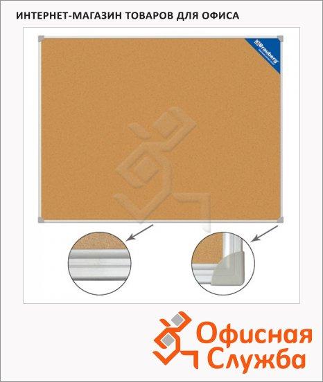 фото: Доска пробковая Brauberg 231711 60х90см коричневая, алюминиевая рама