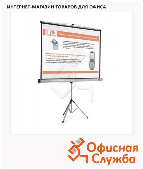 Экран для проектора мобильный Nobo 151х200см, на треноге