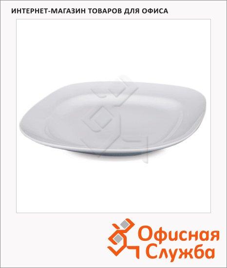 фото: Тарелка обеденная Банкет белая 20.5 x 20.5см, 2шт/уп