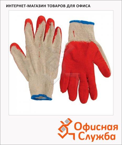 Перчатки трикотажные 5 пар, латексное покрытие, 600802