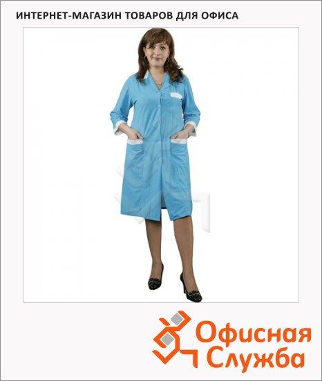 фото: Халат рабочий женский бирюзовый (р.44-46) 170-176