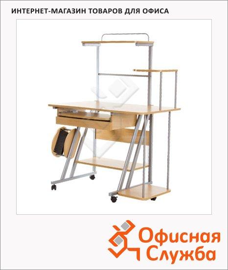 Стол компьютерный Nowy Styl NS СK-102 ДСП, металлокаркас, 1120х600х1390мм, бук