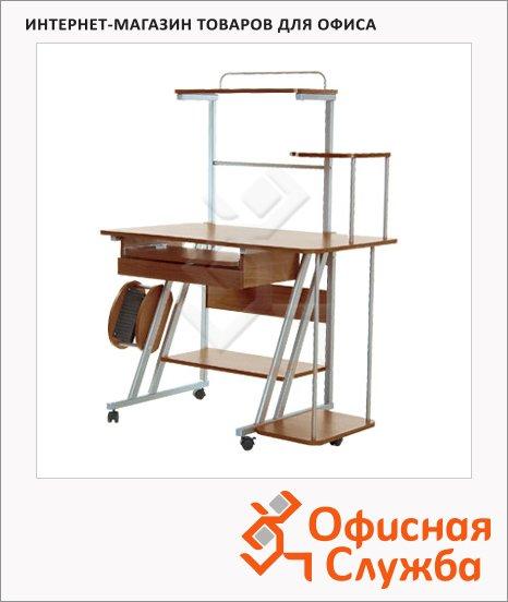 Стол компьютерный Nowy Styl NS СK-102 ДСП, металлокаркас, 1120х600х1390мм, орех