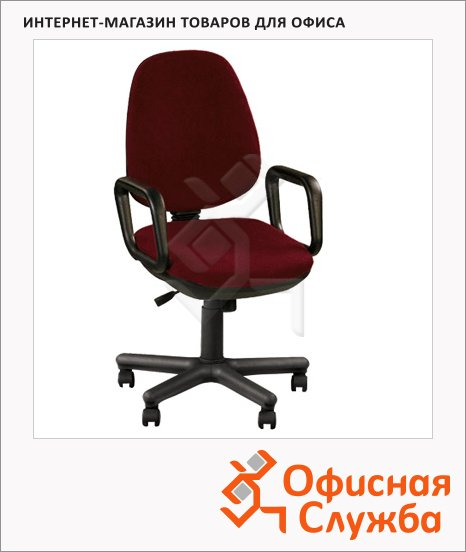 фото: Кресло офисное Nowy Styl Comfort GTP ткань крестовина пластик, бордовая