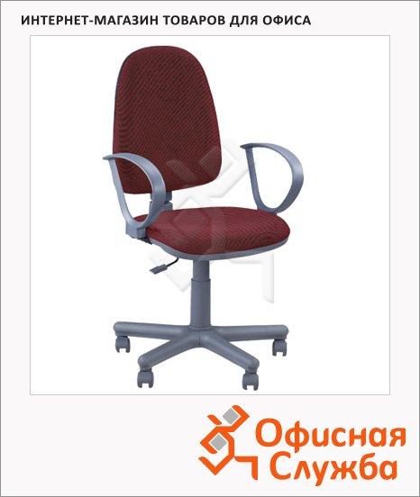 Кресло офисное Nowy Styl Jupiter GTP ткань, JP, крестовина пластик, бордовая