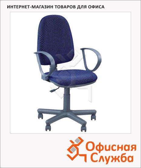фото: Кресло офисное Nowy Styl Jupiter GTP ткань синяя, JP, крестовина пластик