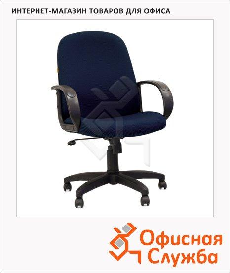 Кресло руководителя Chairman 279-M ткань, крестовина пластик, низкая спинка, черная, синяя