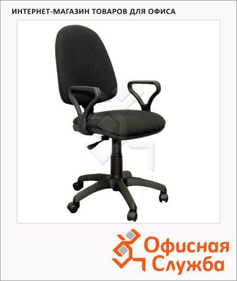 фото: Кресло офисное Бюрократ Престиж ткань крестовина пластик, черная