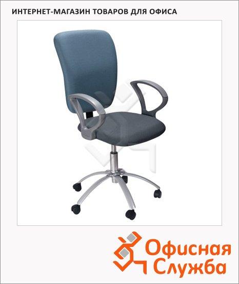фото: Кресло офисное Chairman Эрго-элегант ткань крестовина пластик, серая, синяя