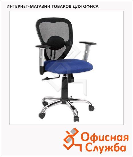 Кресло офисное Chairman 451 ткань, TW, крестовина хром, синяя, NEW