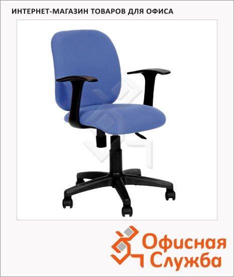 фото: Кресло офисное 670 ткань крестовина пластик, синяя