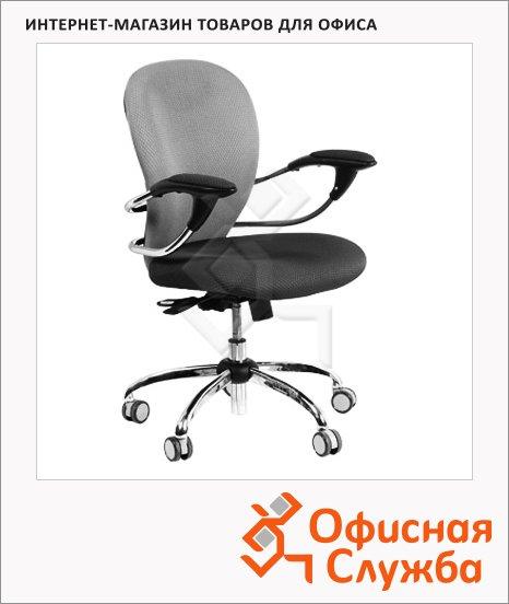 Кресло офисное Chairman 686 ткань, крестовина хром, черная, серая