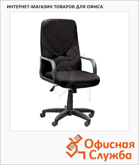 Кресло руководителя Nowy Styl Менеджер нат. кожа, крестовина пластик, черная