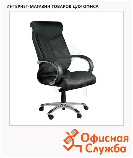 Кресло руководителя Chairman 420 нат. кожа, крестовина хром, черная