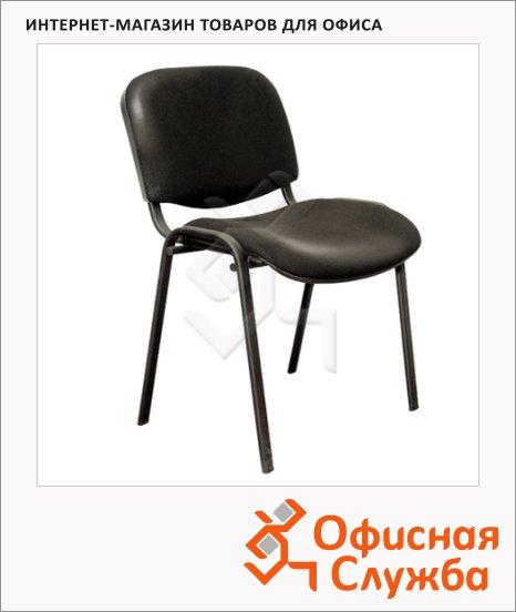 Стул посетителя Furniture Изо иск. кожа, черная, на ножках