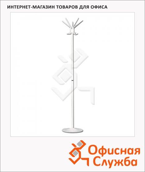 Вешалка-стойка напольная Титан Т22, 5 крючков, 1800х390мм, белая