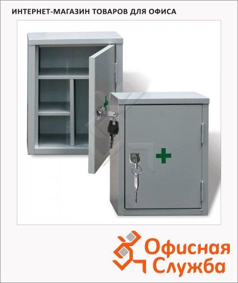 Аптечка офисная съёмные полки, ключевой замок, 380x300x160мм