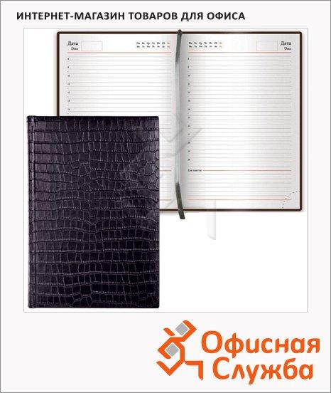 фото: Ежедневник недатированный Brauberg Black Jack черный А5, 168 листов, старинная кожа