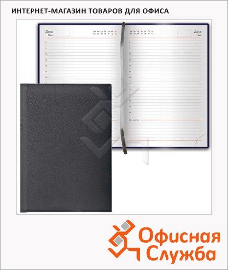 фото: Ежедневник недатированный Brauberg Favorite черный А5, 168 листов, под классическую кожу