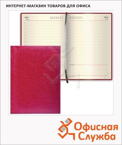 фото: Ежедневник недатированный Brauberg Imperial бордовый А6, 168 листов, под гладкую кожу