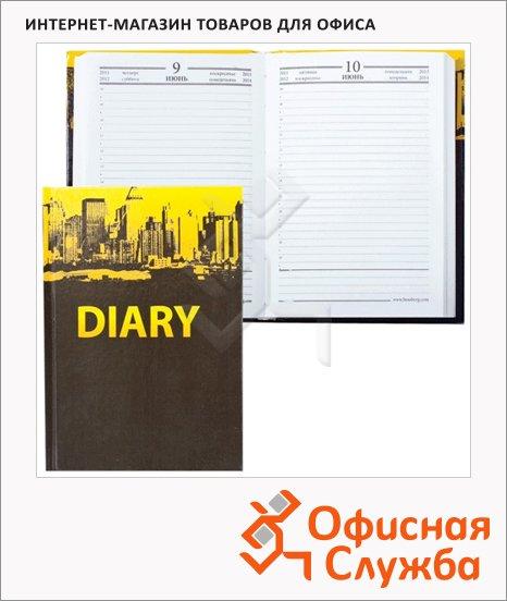 Ежедневник полудатированный Brauberg город, А6, 208 листов