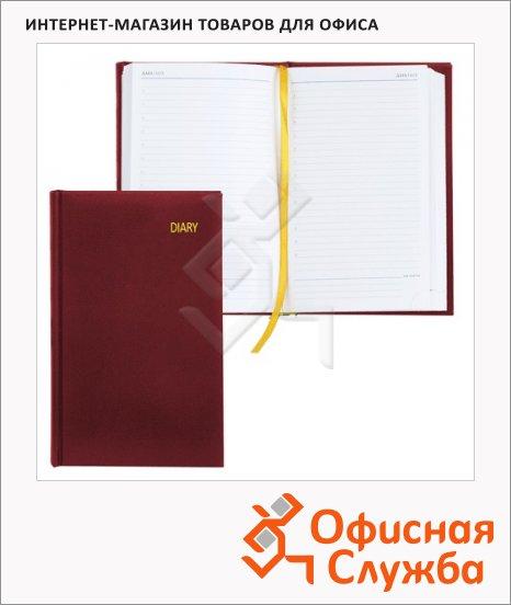 Ежедневник недатированный Erich Krause Ariane бордовый, А5, 176 листов, под кожу классик