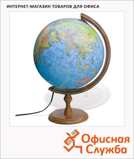 Глобус физико-политический Glowala 32см, на круглой подставке, с подсветкой