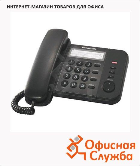 Телефон проводной Panasonic KX-TS2352RU черный