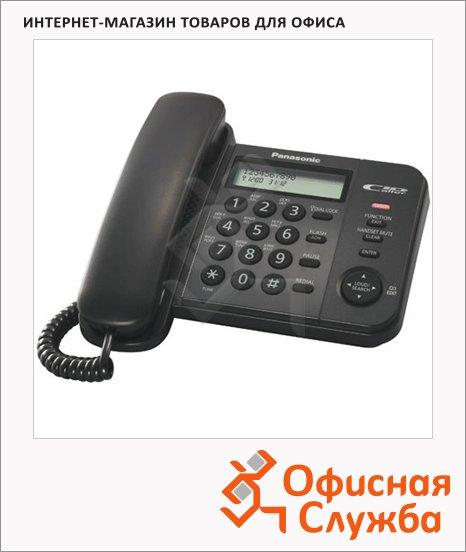Телефон проводной Panasonic KX-TS2356RU черный