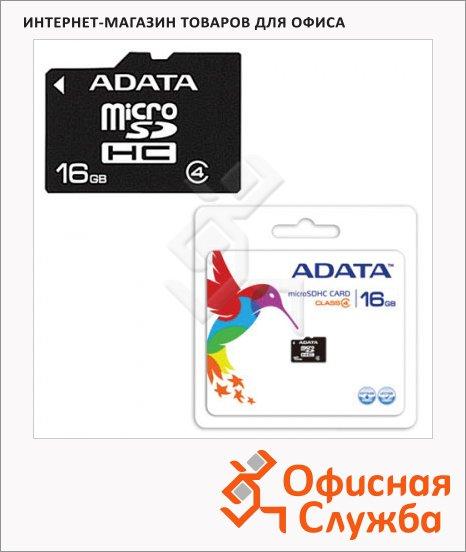 Карта памяти A-Data micro SDHC, 4мб/с, без адаптера SD, 16Gb