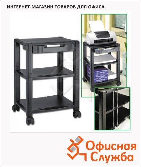 фото: Подставка для принтера Brauberg 435х335х500мм с 3 полками и 1 ящиком, до 35 кг, передвижная