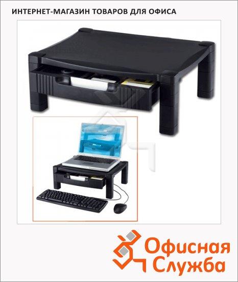 фото: Подставка для принтера или монитора Brauberg 430х340х164мм с 1 полкой и 1 ящиком