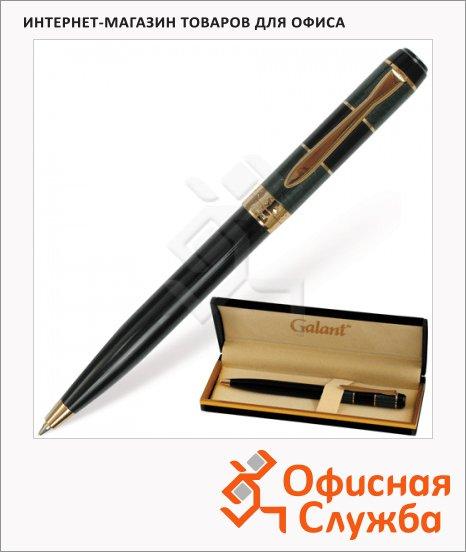 Ручка шариковая Galant Granit Green синяя, 0.7мм, черный/золотой корпус