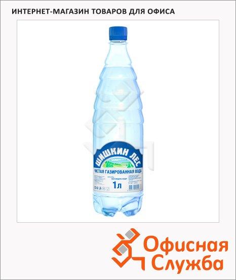 фото: Вода питьевая Шишкин Лес газ ПЭТ, 1л