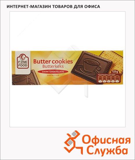 Печенье Fine Food в темном шоколаде, 125г