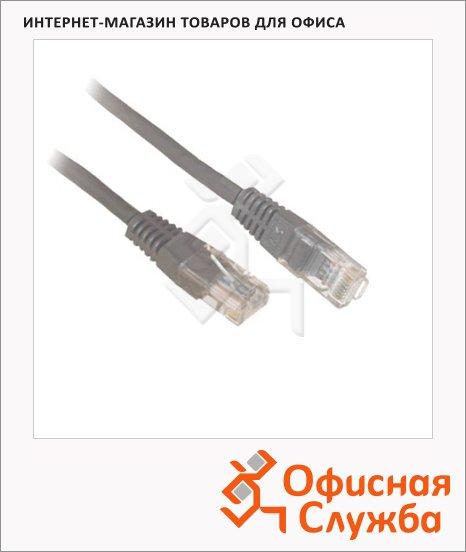 Патч-корд Belsis 8p8c (RJ45)-8p8c (RJ45) (m-m) 10 м, серый, UTP 5E, BW1480
