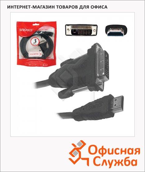 фото: Кабель соединительный HDMI-A-DVI-D Sparks (m-m) 3 м SN1046