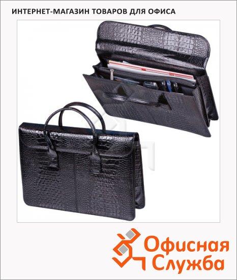 фото: Портфель-сумка женская Baron черная натуральная кожа