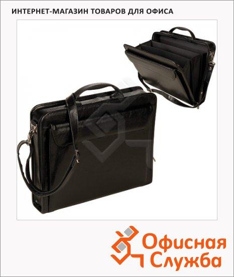фото: Портфель Алекс Паритет 380х290х60мм черный, искусственная кожа