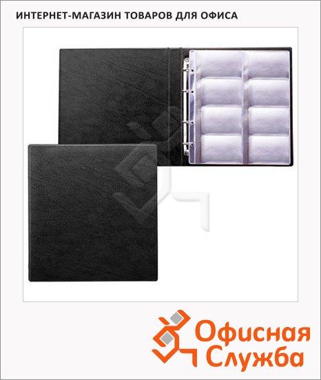 Визитница Brauberg на 320 визиток, черная, 240х210 мм, ПВХ