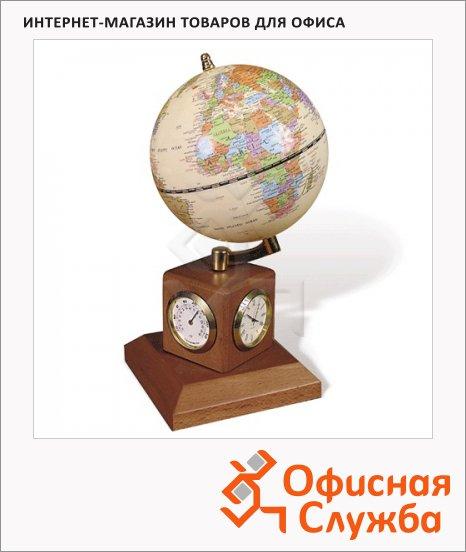 фото: Глобус на подставке Galant с часами d=90мм, 231181