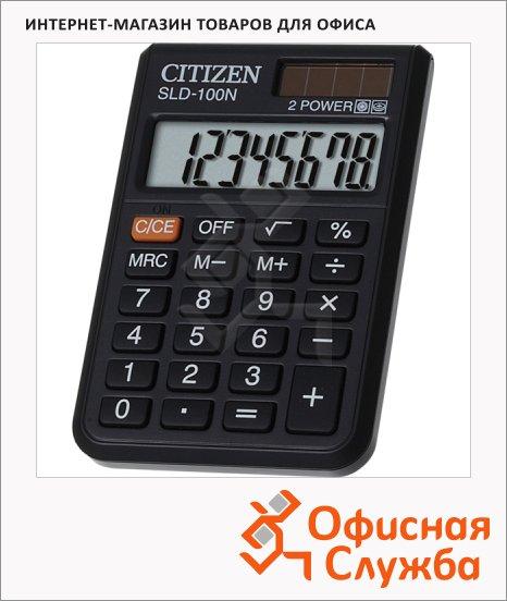 Калькулятор карманный Citizen SLD-100N черный, 8 разрядов