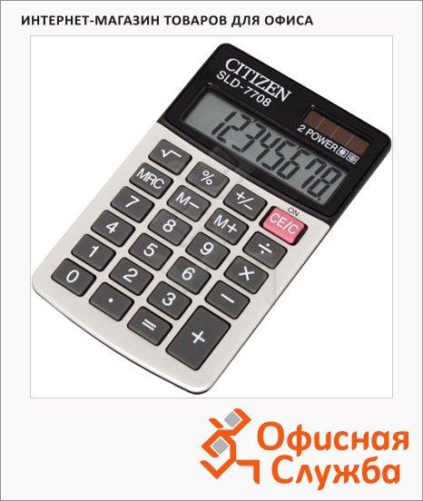 фото: Калькулятор карманный Citizen SLD-7708 черно-белый 8 разрядов